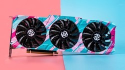 索泰GeForce RTX 3080-10G6X X-GAMING OC显卡,视觉撞色效果
