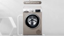 西门子WM12P2692W变频滚筒洗衣机,快速洁净