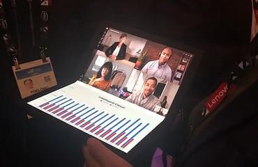 CES2020:ThinkPad X1 fold现场展示