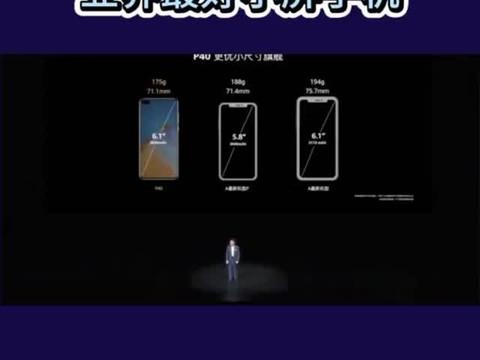 余承东说华为P40是业界最优小尺寸手机,苹果都比不上