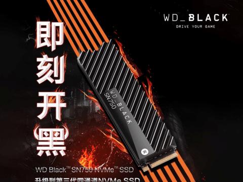 西部数据WD_BLACK SN750 NVME SSD,即刻开黑